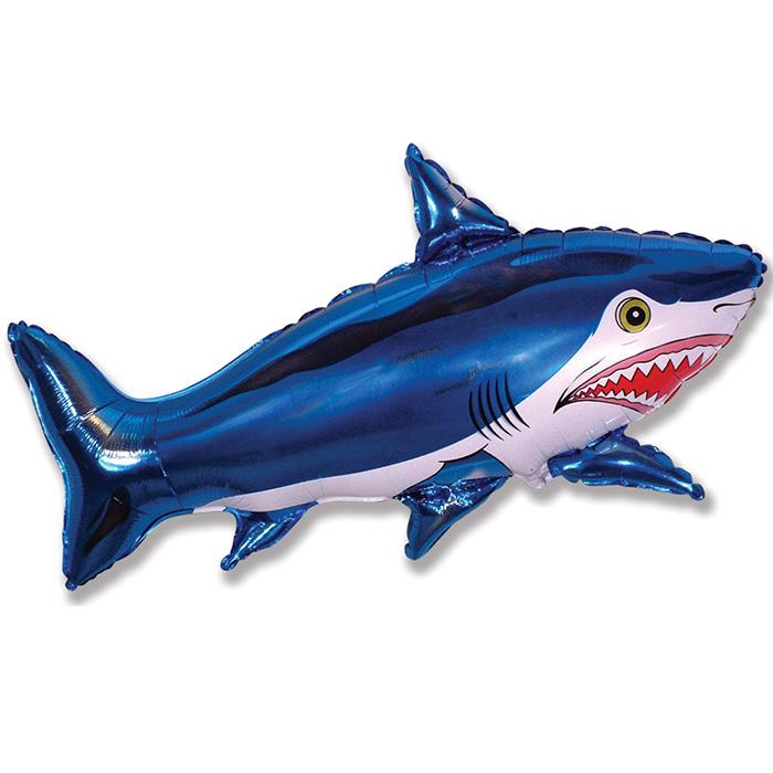 Акула (синяя), 76*107 см