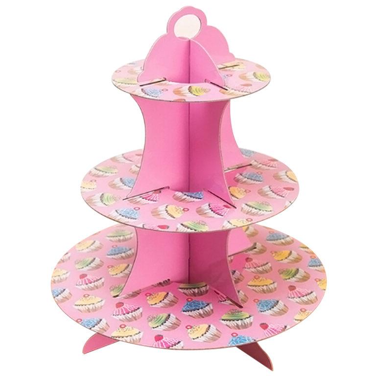 Стойка для десертов, Пирожные, Розовая