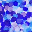 Конфетти тишью, Круги, Голубой микс, 2,5 см, 50 гр