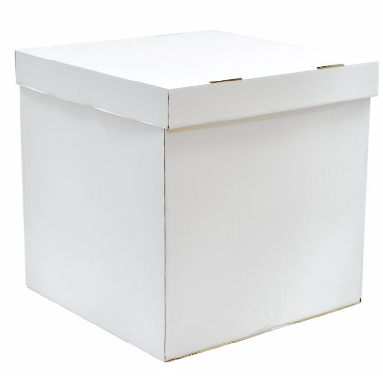 Коробка для воздушных шаров, Белый, 70*70*70 см