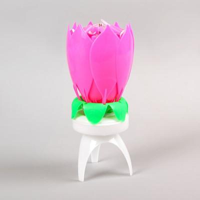 Свеча-цветок, крутящиеся 14,5см