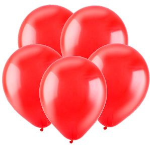 Красный, Кристал / Red / 30 см, 100 шт