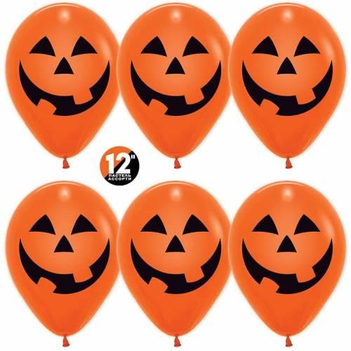Шар  Тыква на Хэллоуин, Оранжевый (061), пастель, 2 ст, 50 шт. 30 см