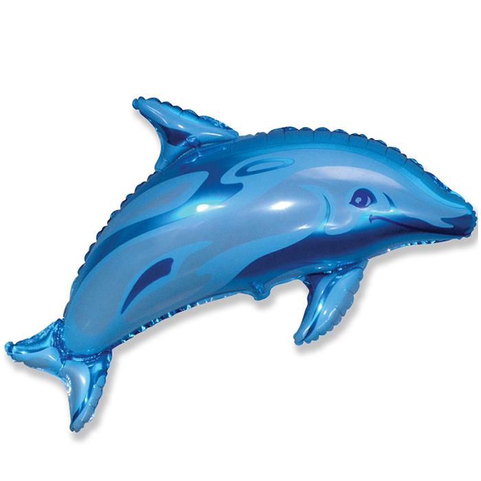 Дельфинчик (синий), 56*94 см