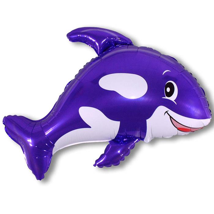 Дружелюбный кит (фиолетовый), 81*89 см