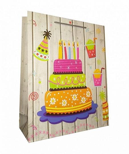 Торт со свечами / 31*40*12см / Пакет