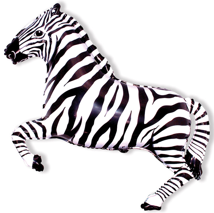 Зебра (чёрная), 74*107 см