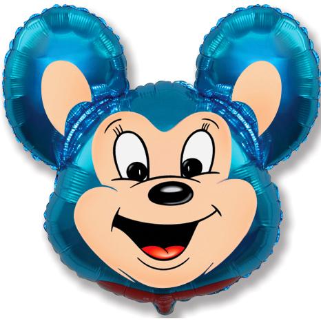 Мощный мышонок (синий), 69*76 см