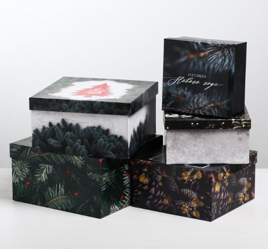 Подарочная коробка из набор 5 в 1 «Фотографичный», 22 х 21,8 х 12 см