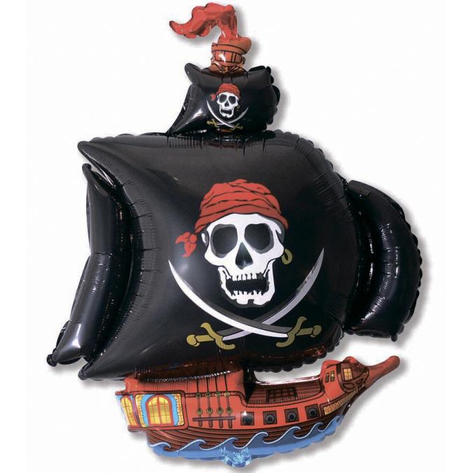 Пиратский корабль (чёрный), 79*104 см