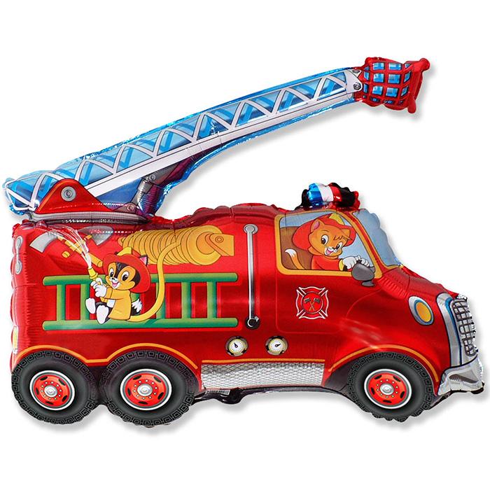 Пожарная машина, 79*79 см