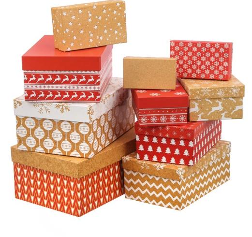 Подарочная коробка из набора 10 в 1 «Зимний», 27,5 × 18,5 × 12 см
