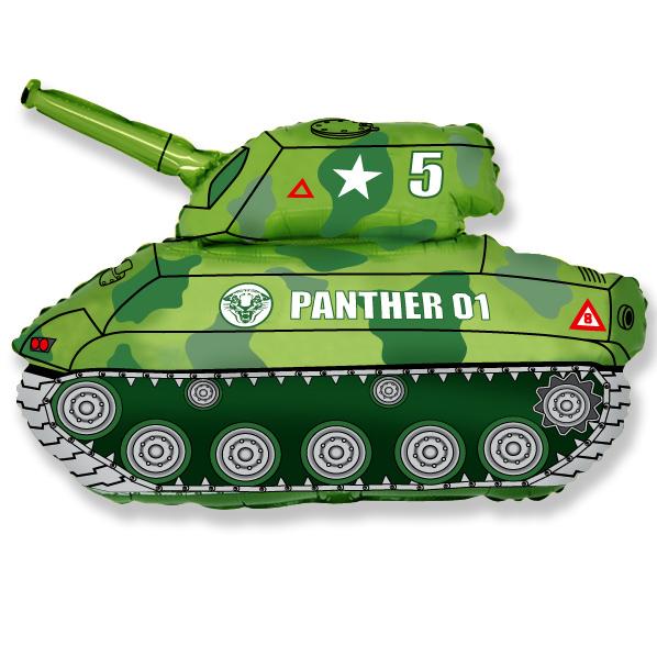 Танк (зелёный), 64*79 см
