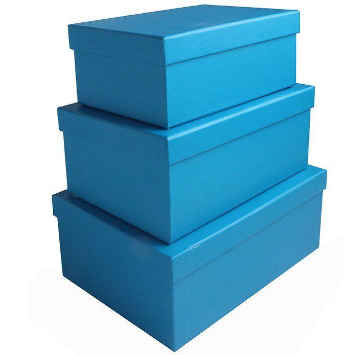 """Коробка  """"Однотонный"""" Голубой / прямоугольник 23*16*9.5 см."""