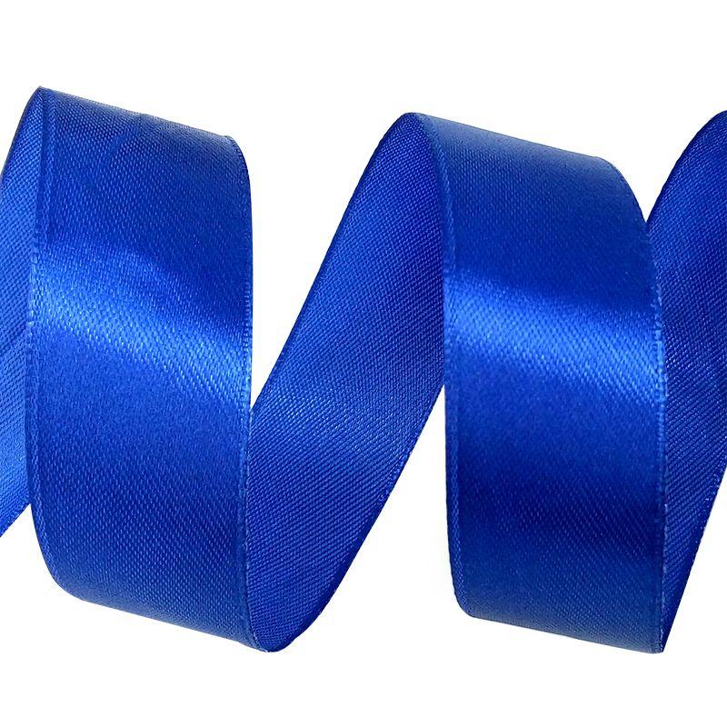 Лента Атлас Темно-синий / 25 мм * 22,85 м.