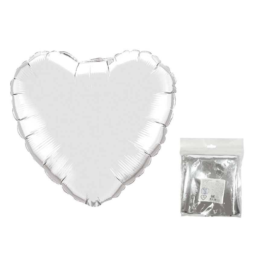 К 18 Сердце Серебро в упаковке / Heart Silver.