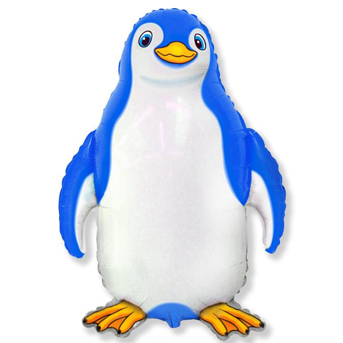 Счастливый пингвин (синий), 79*74 см