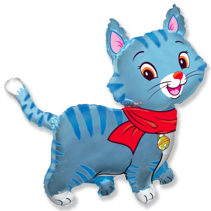 Мой милый котёнок (голубой), 91*94 см