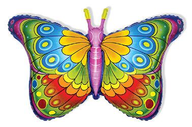 Бабочка Кокетка (фуксия), 59*98 см