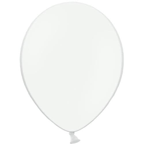 Шар  Белый, пастель, 100 шт./13 см/