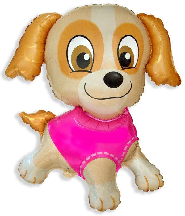 Девочка-щенок, 80*76 см