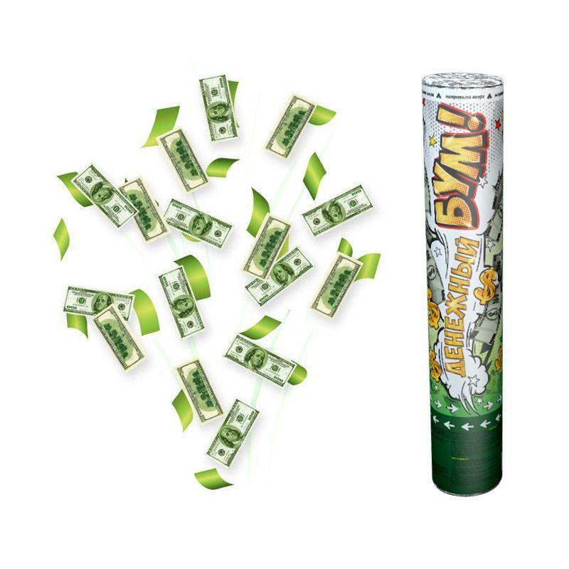 Хлопушка Доллары,  30 см
