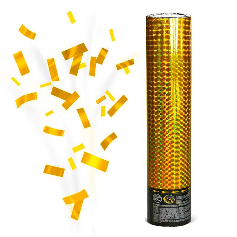 Хлопушка Голография Золотое конфетти, 30 см