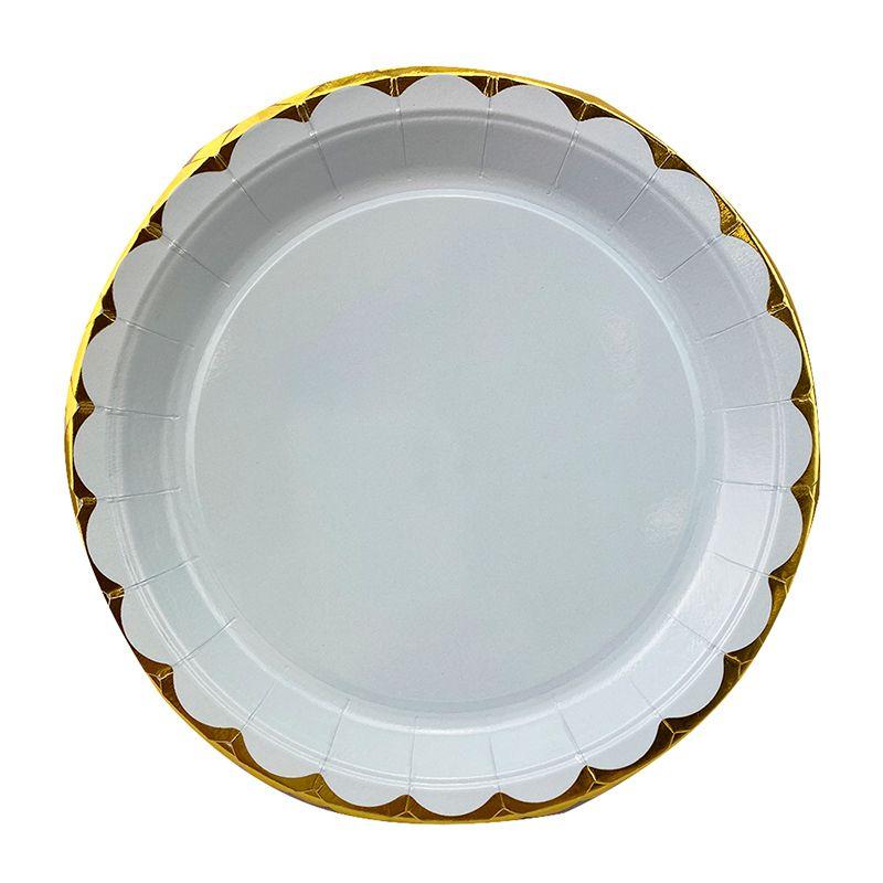 Тарелки Прохладная мята Макаронс с золотом, 18 см, 6шт