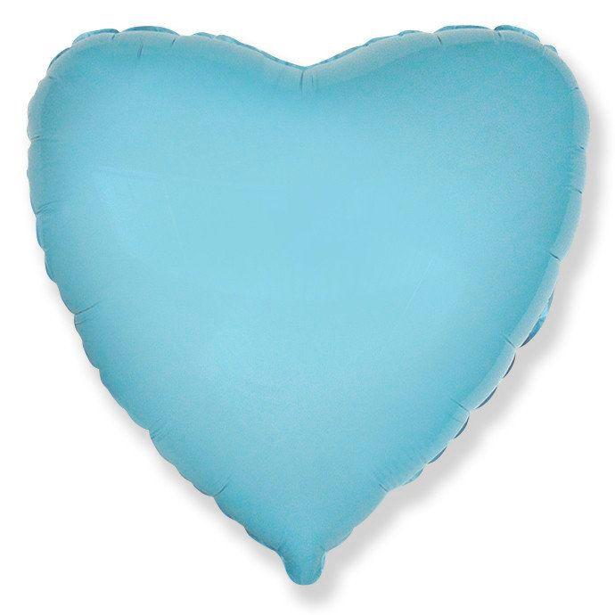 Сердце Светло-голубой, 78см