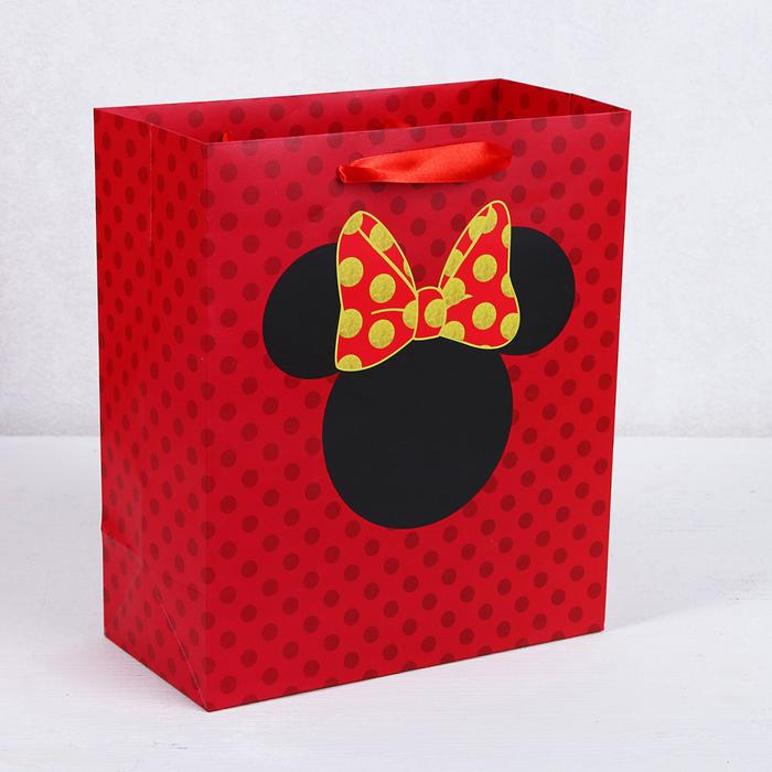 Пакет подарочный «Минни», Минни Маус, 26х30х11,5 см