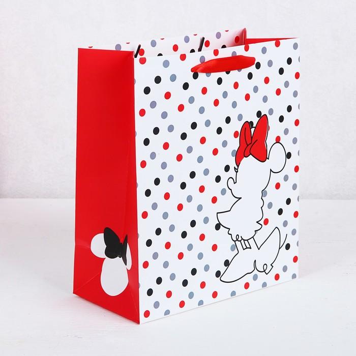 Пакет подарочный «Minnie», Минни Маус, 26х30х11,5 см