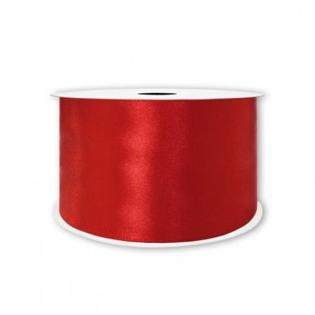Лента Атлас Красный / 50 мм * 22,85 м