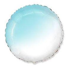 И 18 Круг Бело-Голубой градиент / Round White-Blue adient / 1 шт