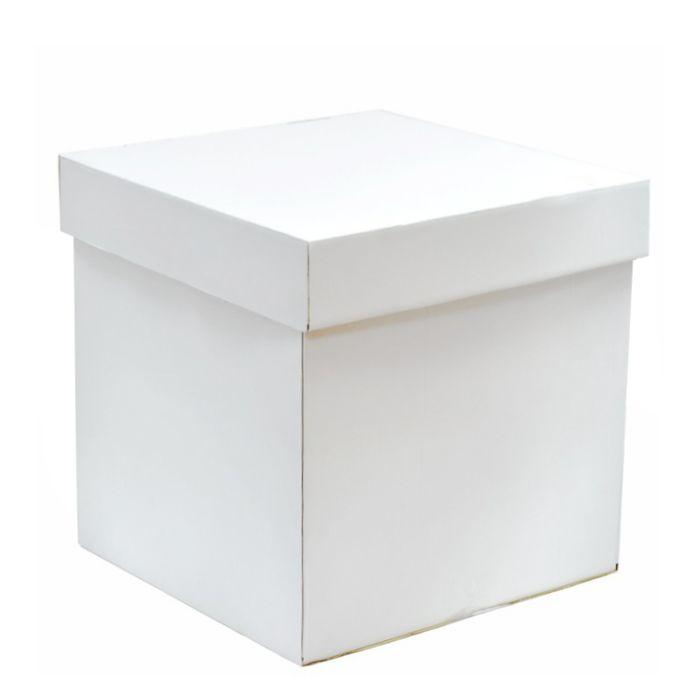 Коробка для воздушных шаров, белый, 60*60*60 см.