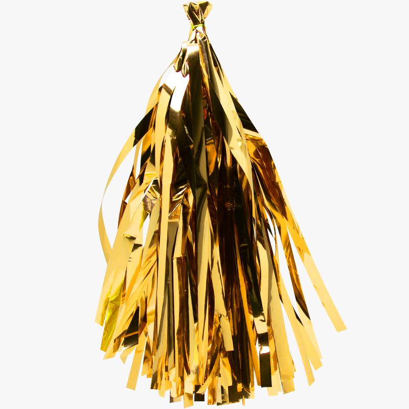 Гирлянда Тассел, Золото, Металлик, 35*12 см, 12 листов.