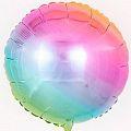 Круг Радуга, нежный градиент / Rainbow gradient 18