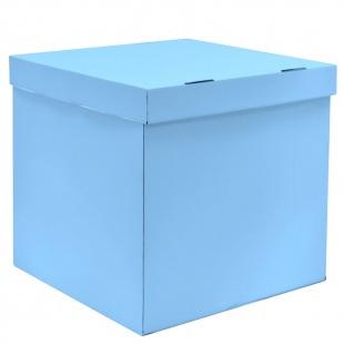 Коробка для воздушных шаров Голубой, 60*60*60 см, 1 шт.