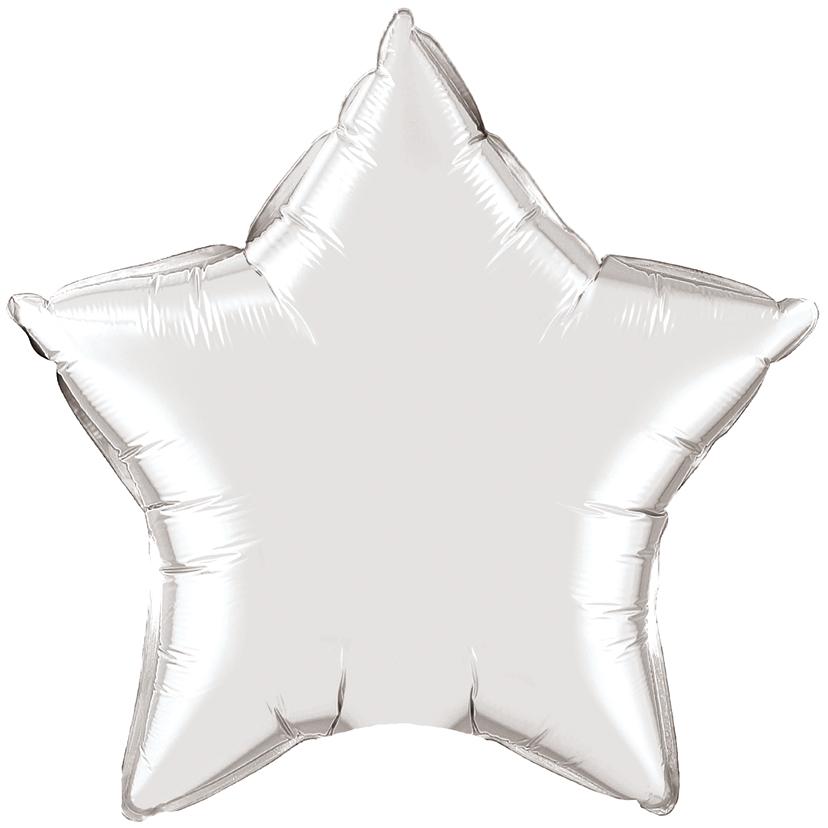 Звезда Серебро, 45см