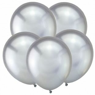 KL Метал 12 Зеркальные шары Серебро / Mirror Silver /