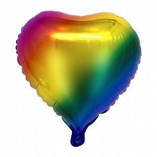 К 18 Сердце Радужный в упаковке / Heart Rainbow / 1 шт /
