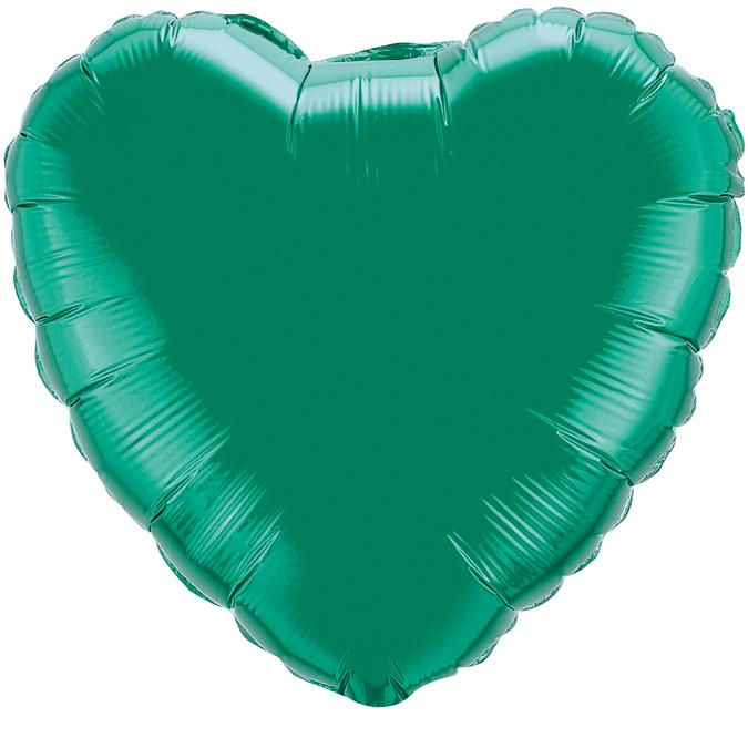 Сердце Зелёный, 45см