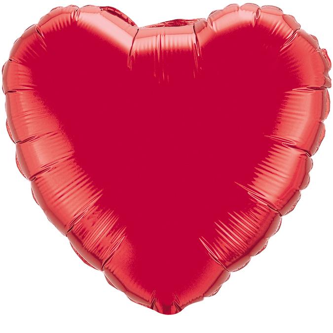 Сердце Красный, 45см