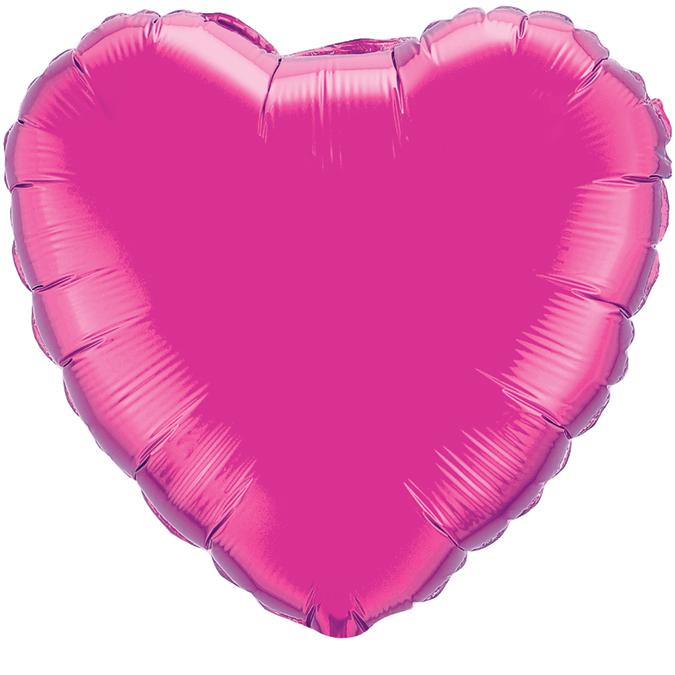 Сердце Лиловый, 45см