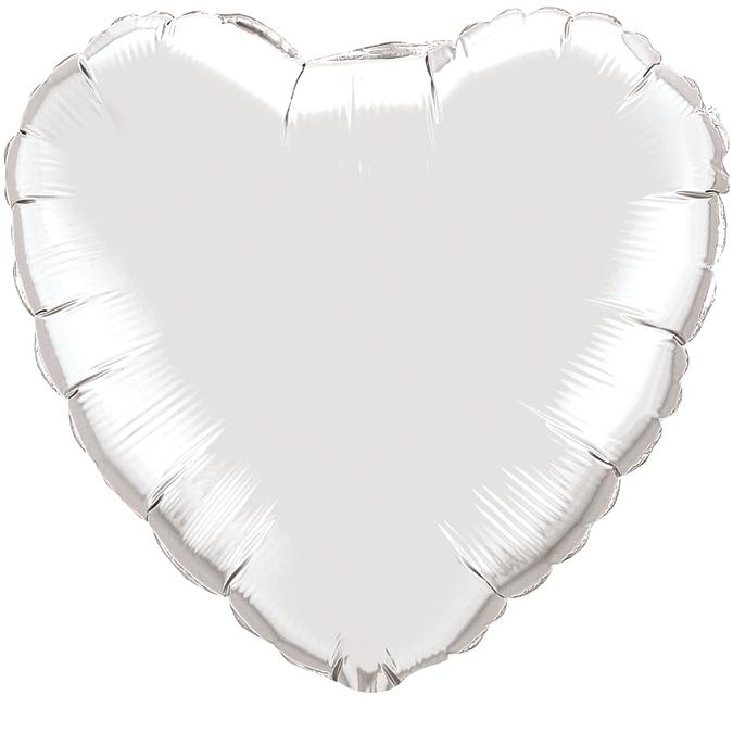 Сердце Серебро, 45см