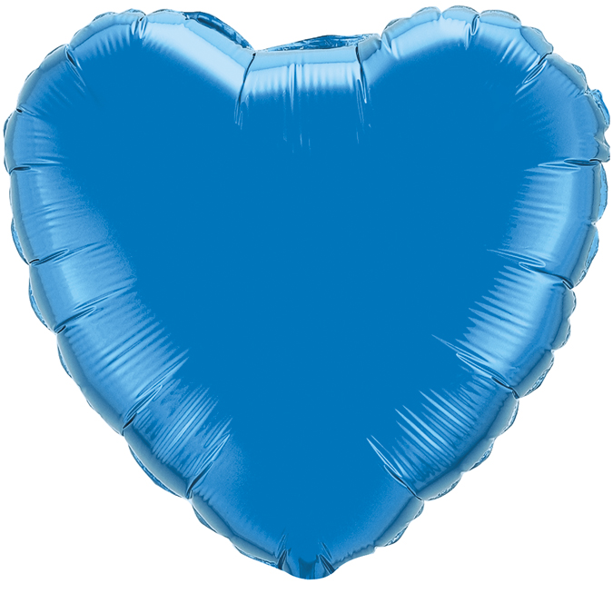 Сердце Синий, 45см