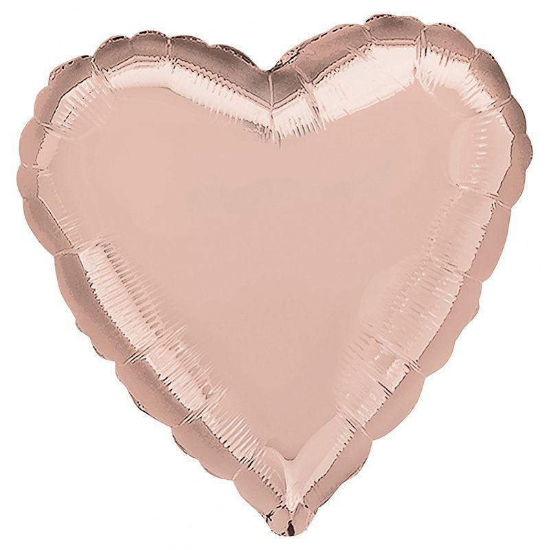 Аг 19 Сердце Розовое золото