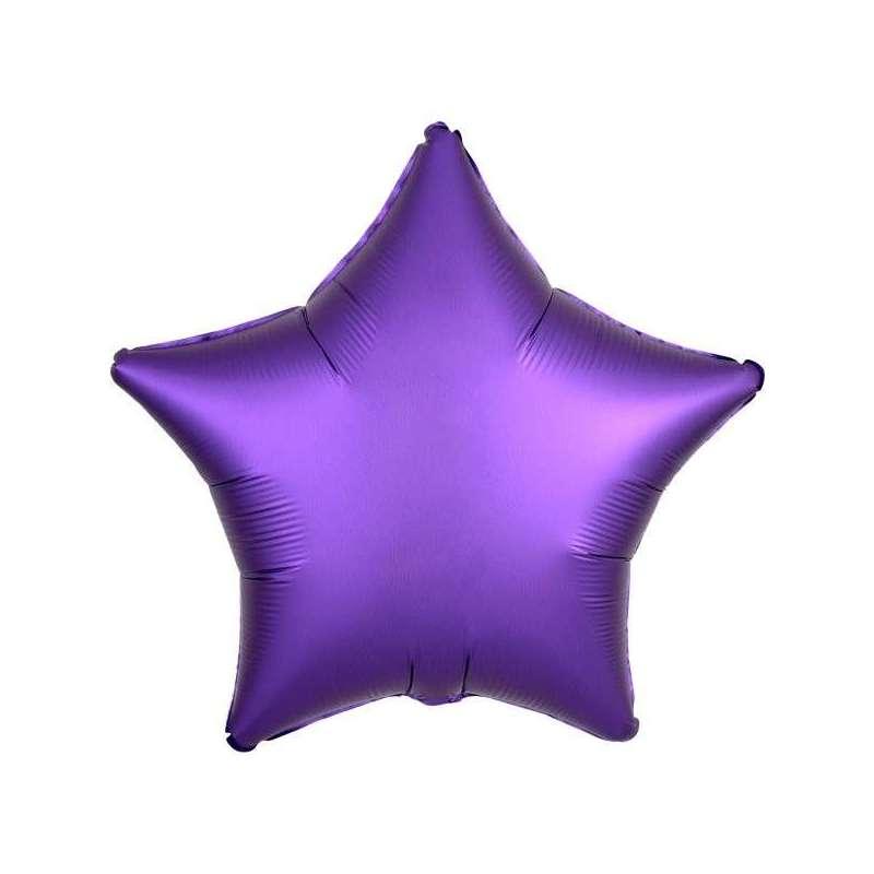 А 18 Звезда Фиолетовый Сатин Люкс в упаковке / Satin Luxe Purple Royal Star S15