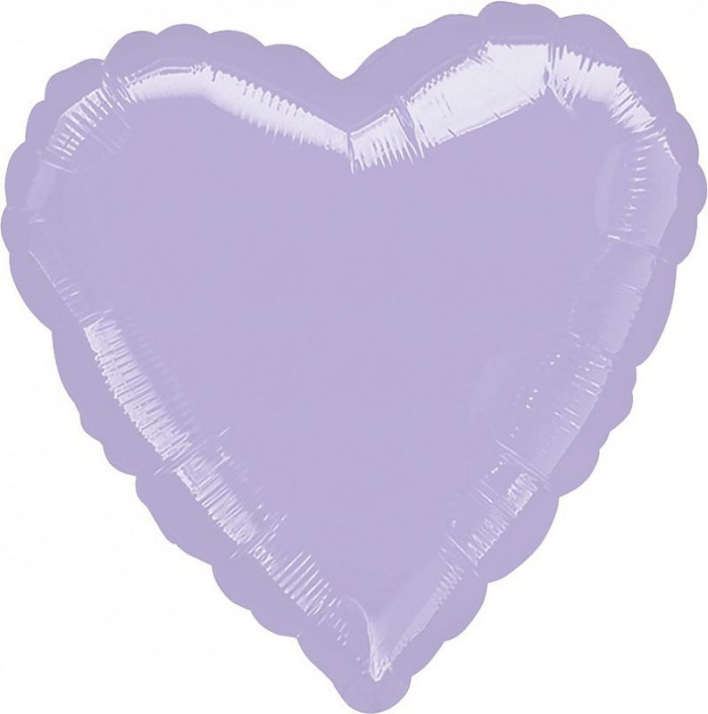 А 18 Сердце Сиреневый / Metallic Pearl Pastel Lilac Heart S15