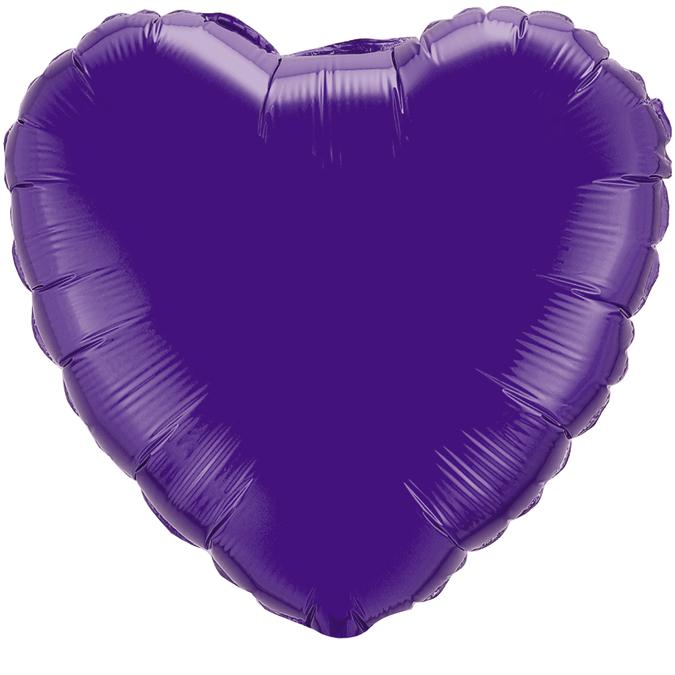 Сердце Фиолетовый, 45см