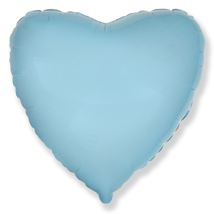 Сердце Светло-голубой, 45см